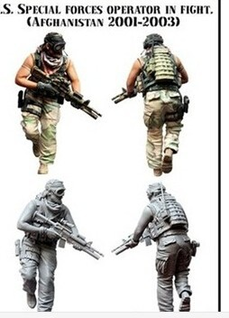 1/35 Scale Assembly Resin Figure Kit U.s. Special Force Modern Soldier