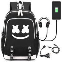 2019 Luminous teenagers school bags student usb laptop backpack for girl boys children bookbag waterproof travel Daypack escolar