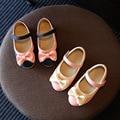 Cuero shoes shoes kids 2016 de primavera y otoño de los nuevos niños niñas princesa shoes arcos suave bottom shoes mocasines para niños
