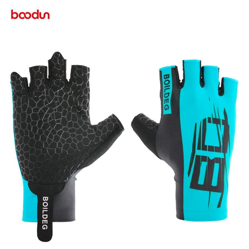 Boodun Bike Cycling Gloves Road Bike Gloves Men Sports Half Finger Anti Slip Gel Pad M-XL 3 Colors MTB Road Bike Bicycle Gloves