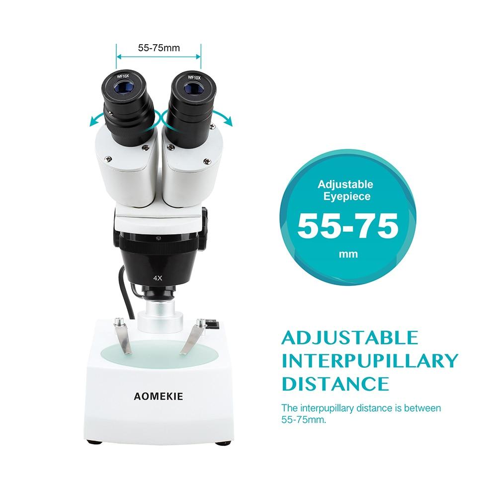 AOMEKIE 20X / 40X Microscopio stereo industriale Binoculare In alto a - Strumenti di misura - Fotografia 5