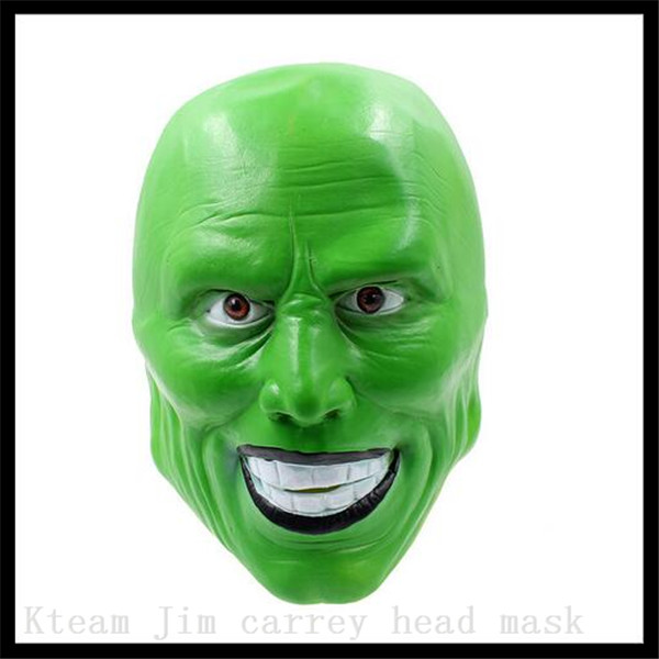 Top Grade Halloween Party Cosplay Latex Movie Clown Mask Jim Carrey Mask Costume Fancy Dress Famous Movie Film Props 'The Mask' image