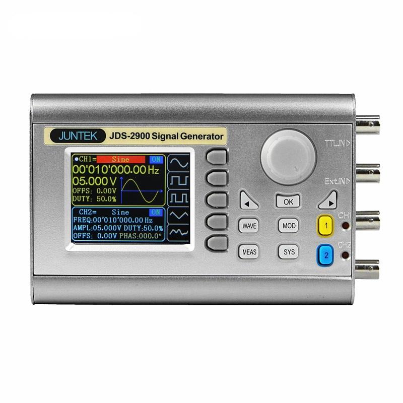JDS2900 15M 15MHZ Digital Dual channel DDS Function Signal Generator Arbitrary Waveform Pulse Signal Generator 20