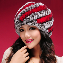 Women Winter Fur Hats High Quality Natural Rex Rabbit Fur Beanie Wholesale Retail Winter Rabbit Fur Hats