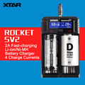 2016 Original Novo XTAR SV2 0.25A-2A USB Universal Ni-MH Li-ion Carregador de Bateria com Display LCD 18650/16340/14500/22650/32650