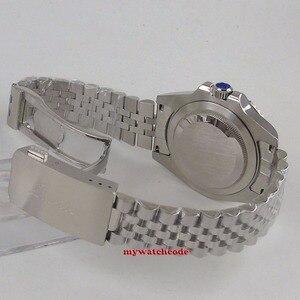Image 5 - Parnis 40mm relógios mecânicos gmt pepsi bezel relógio automático de aço inoxidável safira relógio de luxo dos homens