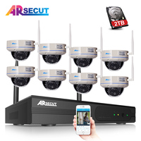 ARSECUT 8CH 960P NVR Kit Wifi CCTV System30 IR Leds Outdoor Waterproof Video Security Camera System