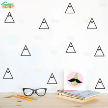 36Pcs Nordic style Geometric Mountains Wall Sticker DIY little pattern for Children Kids nursery room Wall Decals Home Decor(China)