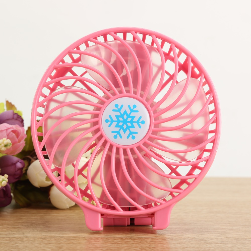 Wuty USB Rechargeable Mini Air Conditioner Portable Small Fan Student Dormitory Office Desktop Desktop Electric Refrigeration Artifact Fan Radiating Color : Blue