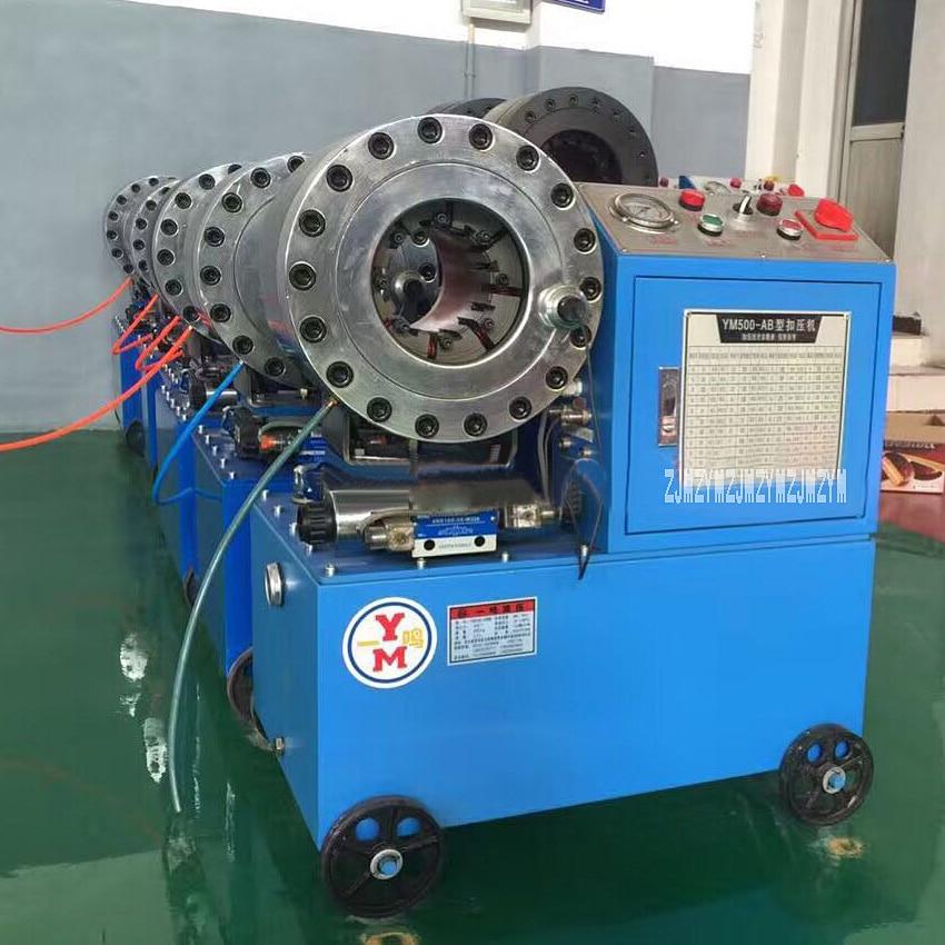 New YM500-AB 3KW Hose Pipe Press Shrink Tube Machine Hydraulic Hose Pipe Press With 10 set Molds ,380V-5L / 220V-2.5L (optional)