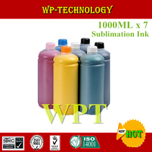 1000ML*7 Sublimation ink Suit for Epson  printer , heat transfer printing ink for mugs ,T shirt , Plastics  ceramics etc