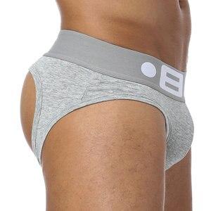 BS Brand Fashion hot elastic popular Underwear breathable cotton sexy gay spandex cueca hombre men underwear Jockstrap Men BS103
