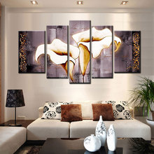 hand-painted wall art grey canvas painting large gray cheap home decor Landscape picture for living room paintings