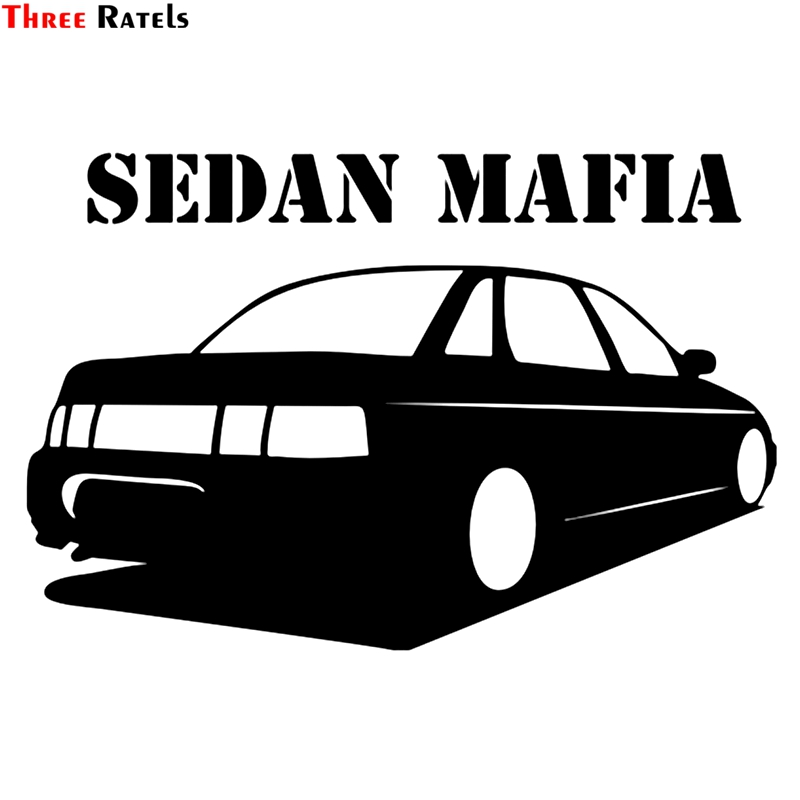 Three Ratels TZ-1202 13.3*20cm 1-4 Pieces Car Sticker Sedan Mafia For Vaz 2110 Funny Car Stickers Decals