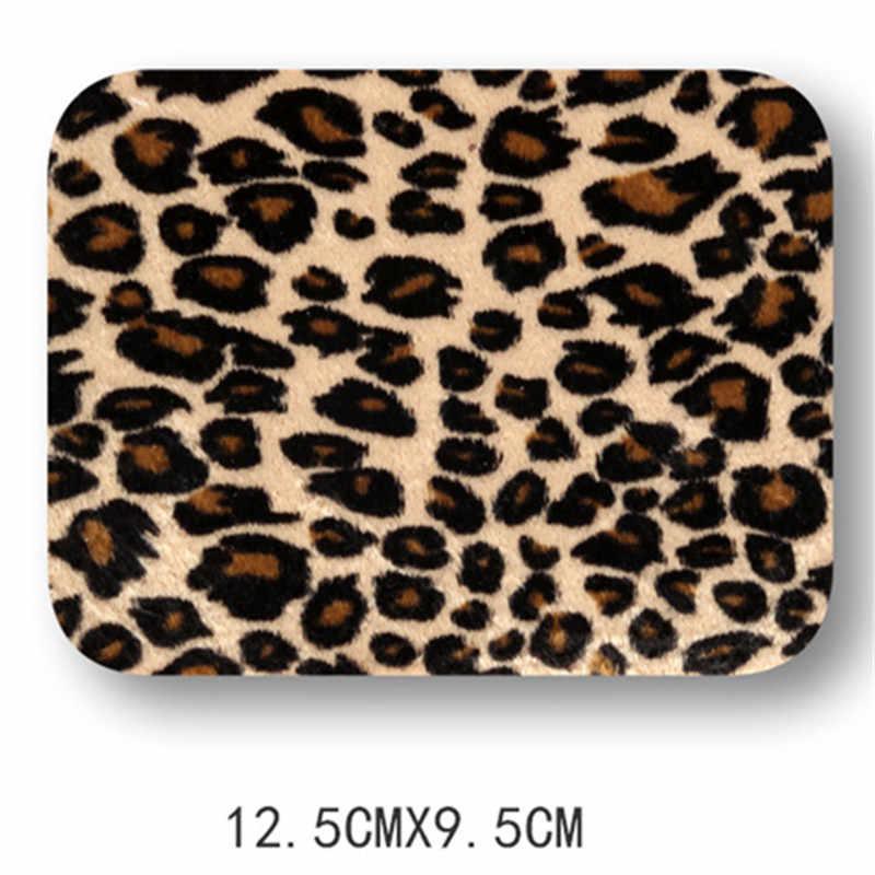 Leopardo Ferro No Remendo para Remendo Do Cotovelo para a Camisa Jaqueta de Roupas Calças Na Altura Do Joelho Tecido Patches Crachá Applique Acessórios de Vestuário