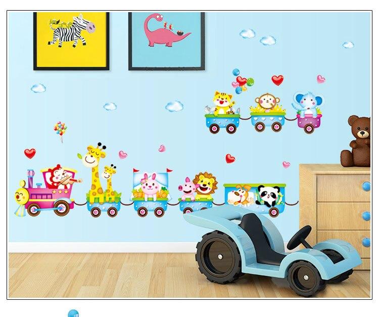 Modern Decorative DIY Wall Stickers Kids Bedroom Cartoon Animal ...