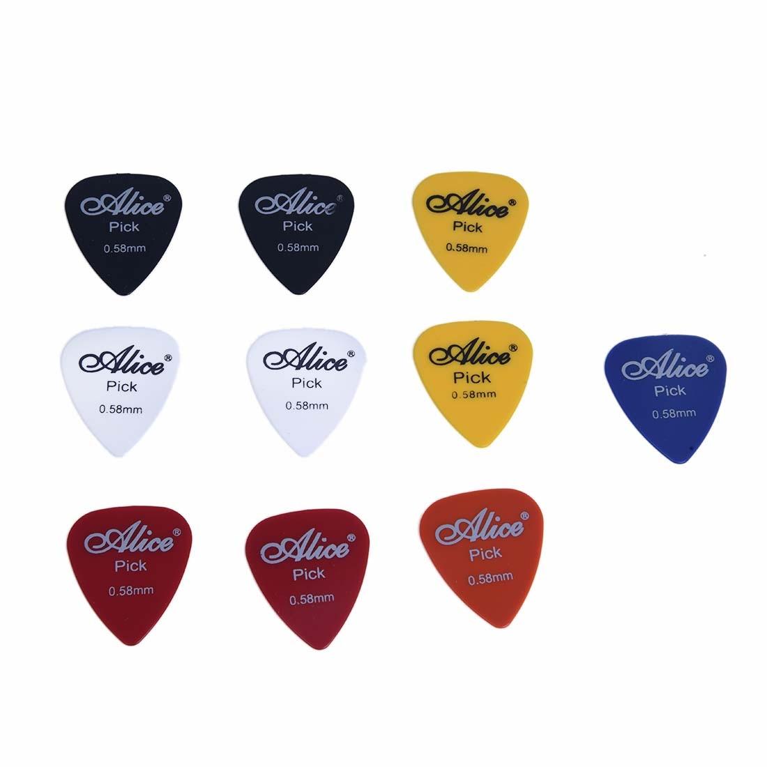 SEWS 10x Plectrum Guitar Accessories Alice Guitar Pick 0.58mm