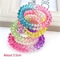 5CM Gradient Color Telephone Line Hair Accessories For Women Headband,Elastic Bands For Hair For Girls,Hair Band For Kids