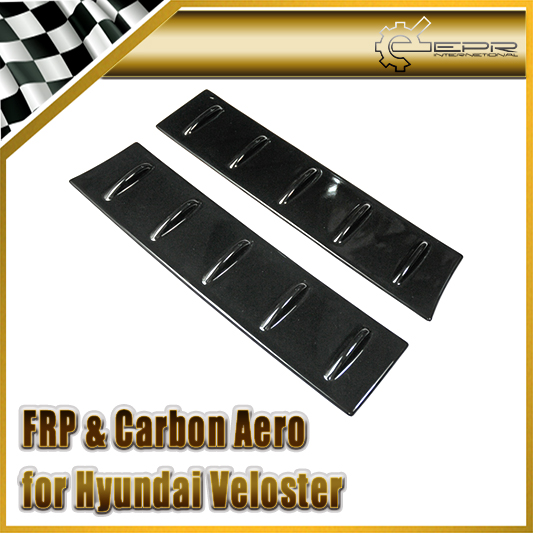 EPR Car Styling For Hyundai Veloster FRP Fiber Glass Roof Vortex Generator Roof Spoiler Rear Window Wing 2pcs(All Model) high quality frp jc styling car rear spoiler for ben z auto roof rear wing for smart