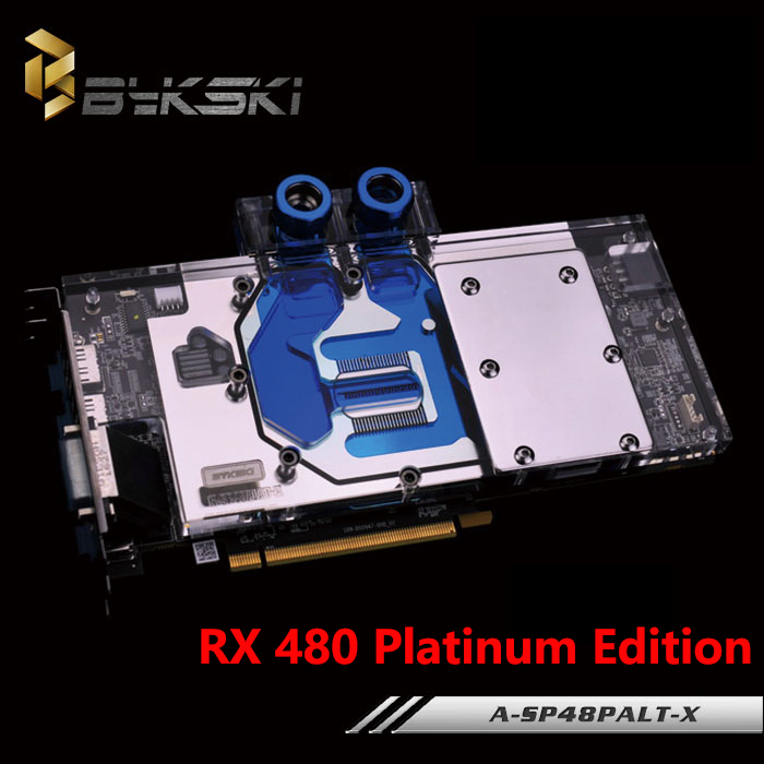 BYKSKI A-SP48PALT-X Full Cover Graphics Card Block use for Sapphire RX480 Platinum Edition Video Card Block RGB Controller new sapphire hd7850 1g 2g platinum edition firstdo fd7010h12s game card double fan