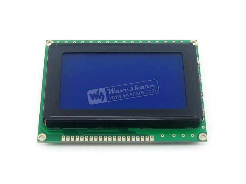 12864 128*64 Graphic Matrix LCD LCM Display Module TN/STN Blue Backlight White Character 5V Logic Circuit module 1604 164 16 4 character lcd module lcm display blue backlight white character 5v logic circuit
