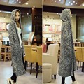 Winter Fashion Womens Hooded Cardigan Full Length Knitwear Long Coat Jacket Female New Fashion Cotton Sweater Free Size