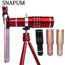 SNAPUM Teléfono Móvil teleobjetivo Zoom óptico 18x Cámara del telescopio del teléfono móvil Para el iphone samsung Huawei xiaomi oppo vivo