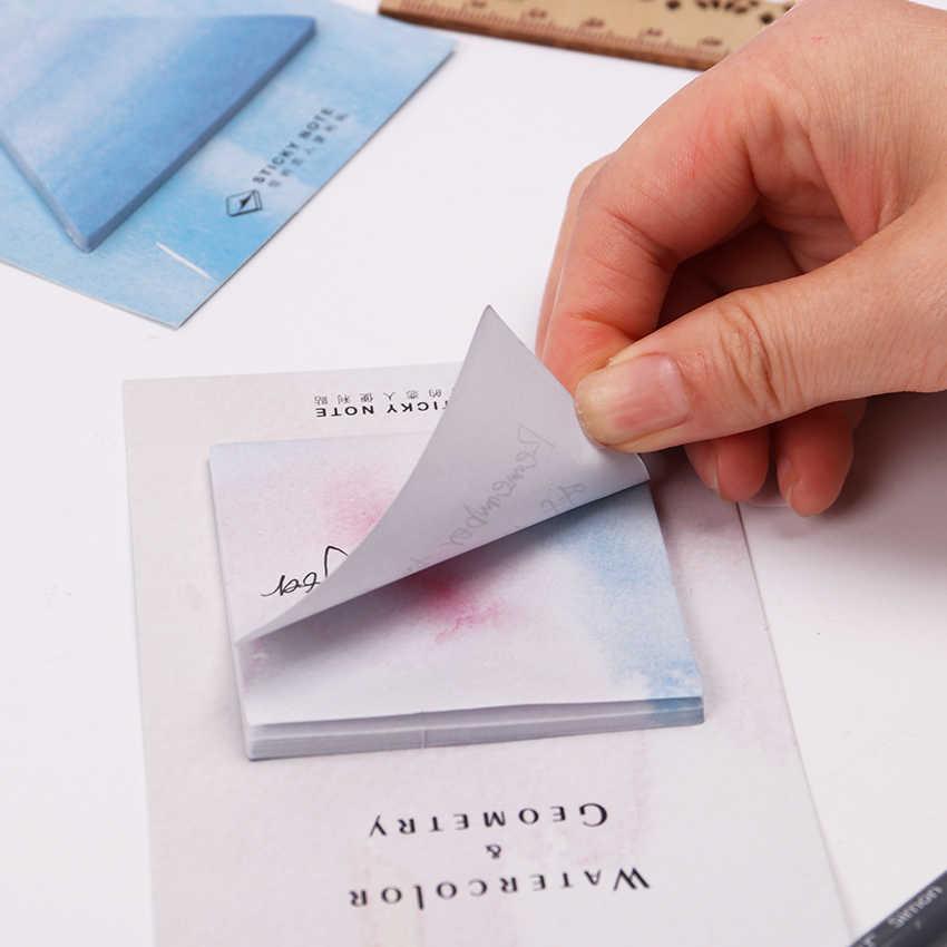 Bloc de notas geométricas de acuarela fantástica Kawaii triángulo hexagonal memorable Bloc de notas decorativas