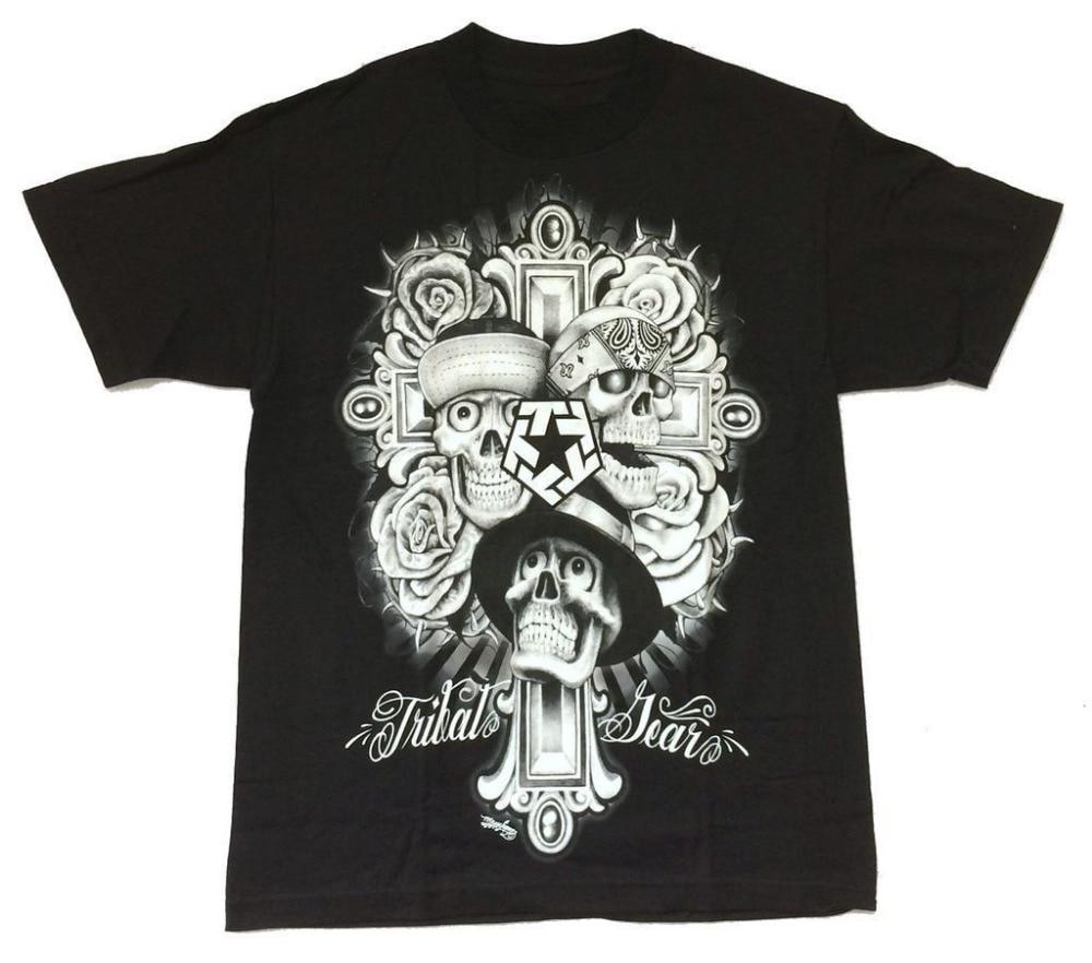 T Shirt Printing Company Tribal Gear Mouse Lopez Skulls Cross Mens
