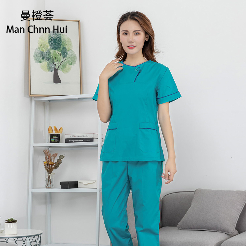Hospital women nurse medical dental clothing surgical uniforms scrub suit doctor lsolation clothes