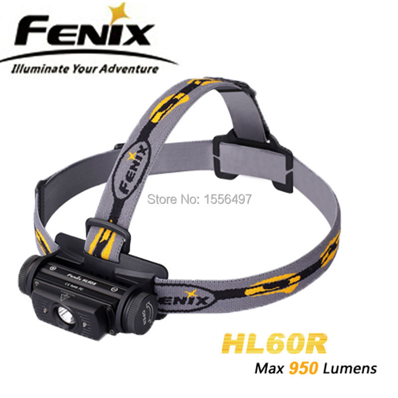 2016 NEW Fenix HL60R Cree XM-L2 T6 Neutral White LED 900 lumens headlamp(Powered by one 18650 or two CR123A batteries)