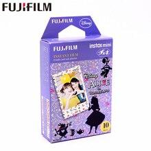 Fujifilm 10แผ่นInstax Miniอลิซในแดนมหัศจรรย์ฟิล์มทันทีกระดาษภาพถ่ายสำหรับInstax Mini 8 7วินาที25 50วินาที90 9 SP 1 SP 2กล้อง