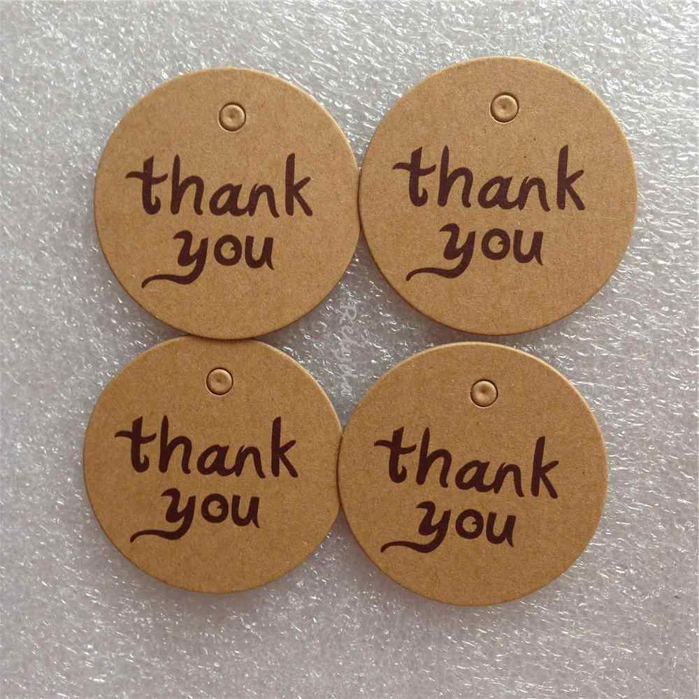 50 pcs O envio Gratuito de artesanato marrom preço etiquetas tag do presente feito à mão etiqueta do convite do cartão de agradecimento embalagem doce adesivos Dia.40mm