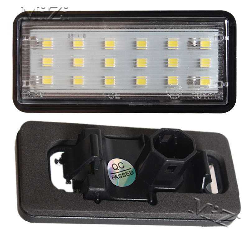 2 Pcs LED Number License Plate Light Kit White Car For Lexus LX470 GX470 For Toyota Land Cruiser 120 Prado Land Cruiser 200 2pcs car led license plate lights 12v white smd3528 led number plate lamp bulb kit for ford focus c max 03 07
