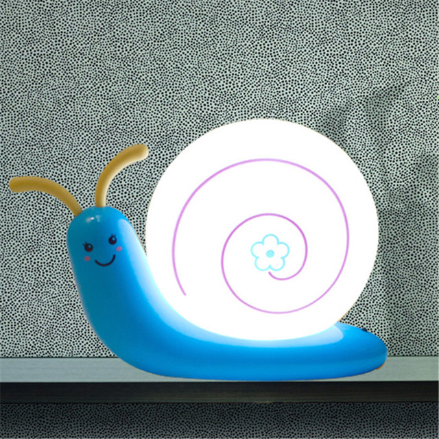 led Snail night light  USB Rechargeable Desk Lamp Creative small wall lamb cute baby sleeping light can hang type Free Shipping