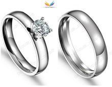 Fashion Famous Brand Lovers Rings Men Women Stainless Steel Rings for Women and Men Wedding Engagement ring(China)