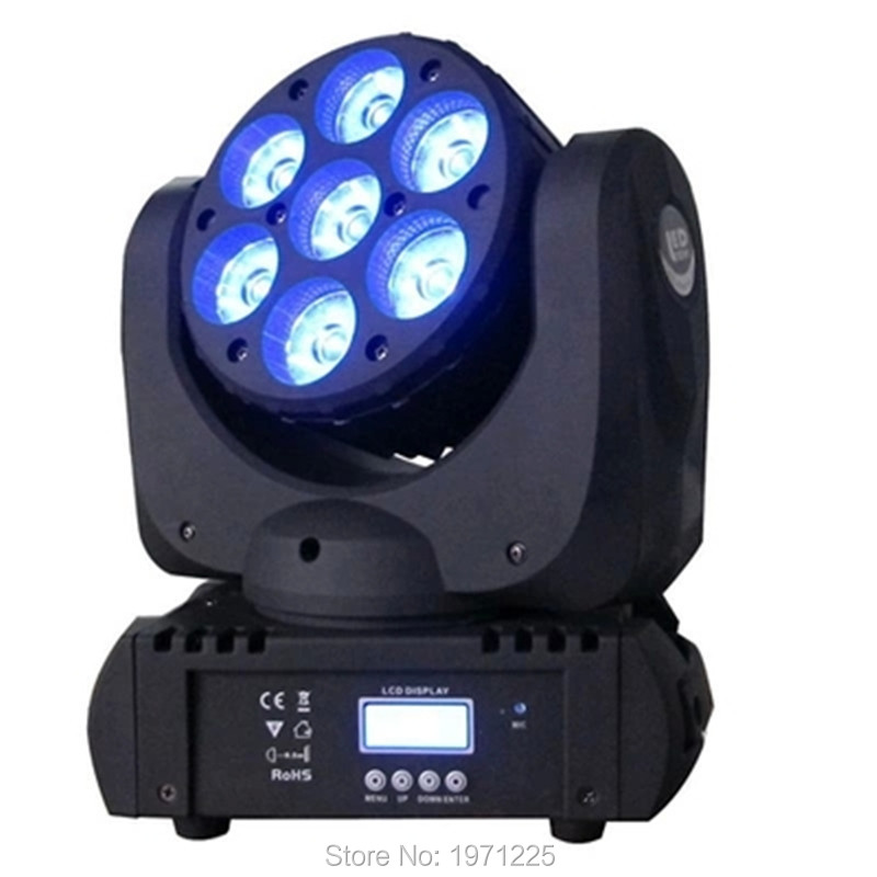 7x12W LED Beam Moving Head Light CREE RGBW 4in1 7X12W 4in1 RGBW LED Beam Moving Head freeshipping 2xlot 16 head led moving head spider light endless rotation 16x25 high power rgbw 4in1 beam full color lcd display