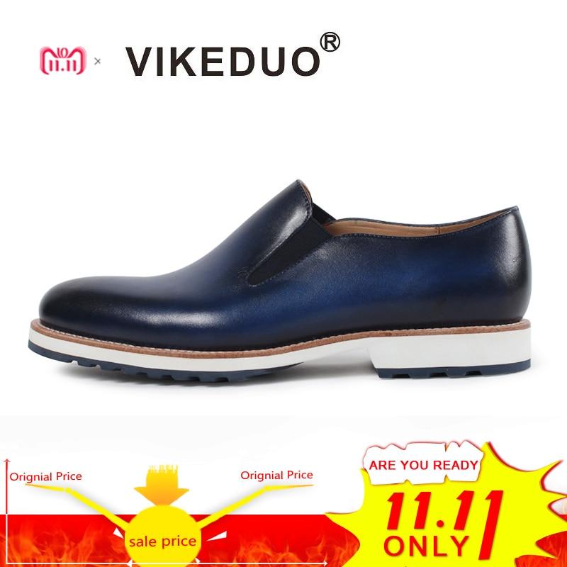 Vikeduo/Летние повседневные Лоферы Мужская однотонная обувь из натуральной кожи под платье Свадебная вечеринка офисная обувь ручной работы Zapato Masculino Sapatos