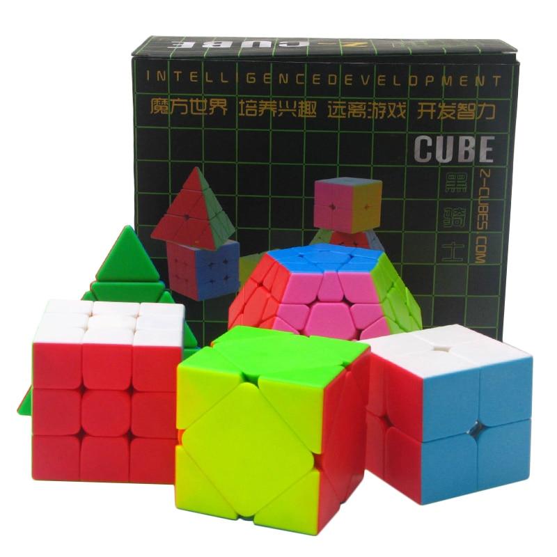 5 pcs/paquet coloré 2*2*2 3*3*3 Triangle Dodecahedron diamant magique Cube lisse vitesse Puzzle enfants jouet cadeau (S5