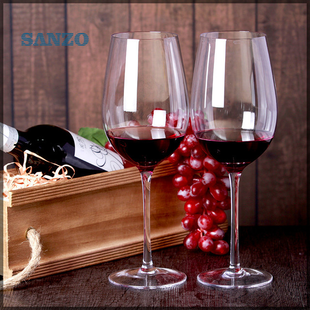 Hot sale handmade blown lead free crystal bordeaux wine glass red ...