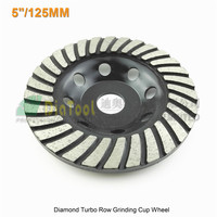 1pc 125mmDiamond Turbo Row Grinding Cup Wheel For Concrete Masonry And Some Other Construction Mater 5inch