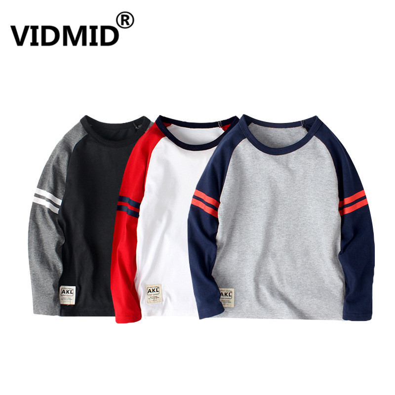 VIDMID Children T-Shirts Clothing Long-Sleeve Boys New-Arrival Kids Cotton for 6-14Y
