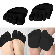 купить 1Pair Cotton Half Insoles Pads Foot Care Insoles Forefoot Pain Relief Massaging Gel Metatarsal Toe Support Pads Insoles Forefoot дешево