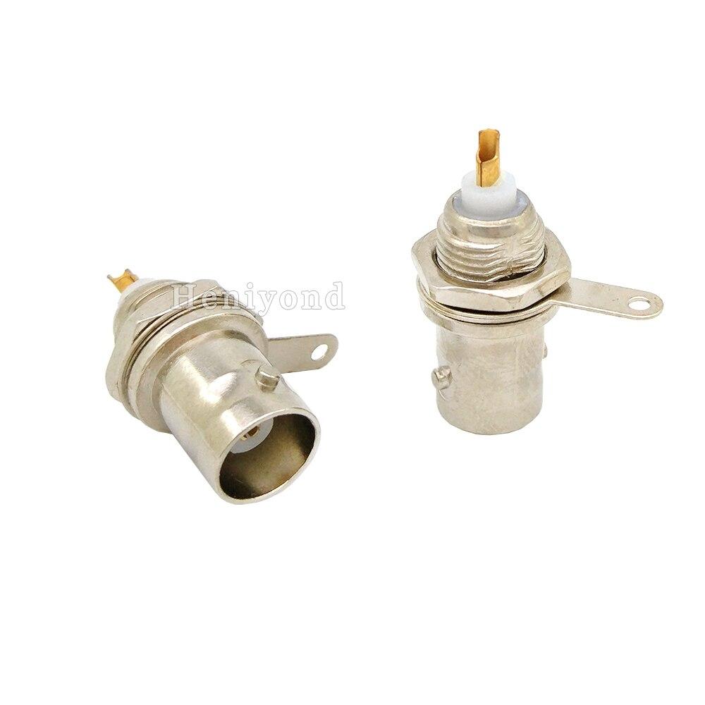 10 pces conector de solda bnc da mola da torção jack para o sistema coaxial da câmera do cctv do cabo rg59