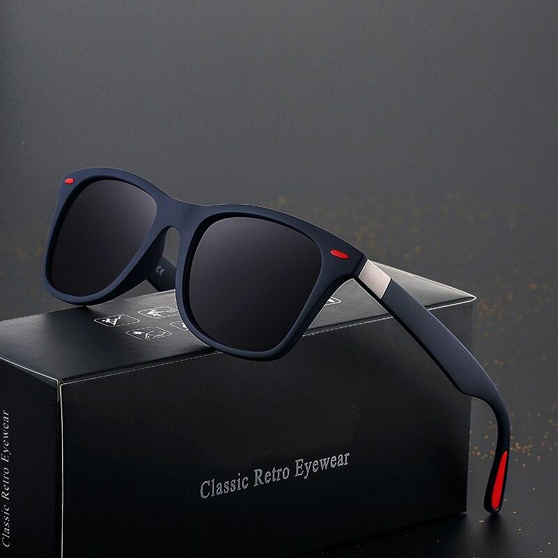 MARKE DESIGN Klassische Polarisierte Sonnenbrille Männer Frauen Fahren Quadratischen Rahmen Sonnenbrille Männlichen Goggle UV400 Gafas De Sol