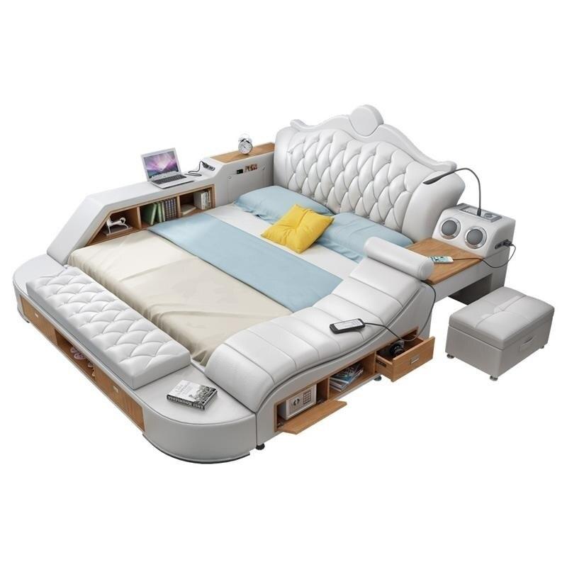 Odasi Mobilya Hause Einzigen Meuble Maison Recamaras Totoro Ranza Leder Moderna Schlafzimmer Möbel Cama Mueble De Dormitorio Bett Farben Sind AuffäLlig Wohnmöbel Schlafzimmer Möbel