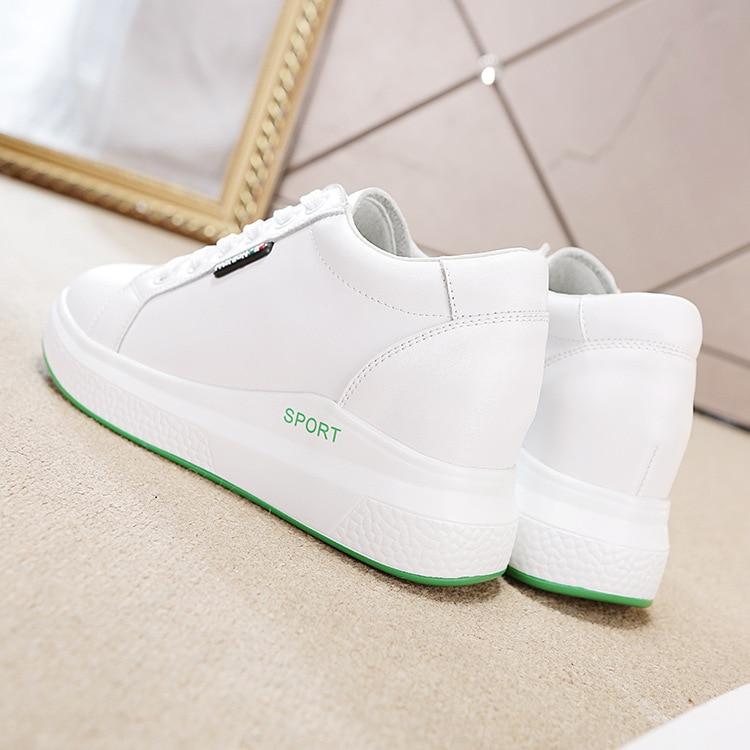 Las Zapatos Tacón Transpirable 2019new Blanco Plano Baitao Ganado Aumento Primavera De Ocio Fondo Calzado Deportes Interior Mujeres Viento 7qatTx