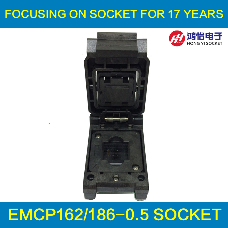 eMCP162 to DIP48 IC Test Socket , for BGA162 BGA186 testing, Chip Size 12*16mm, Clamshell Programmer For Data Recovery free shipping programmer testing clip soic 8 soic8 dip8 dip 8 pin ic tools chip way smd programming program testing test clip