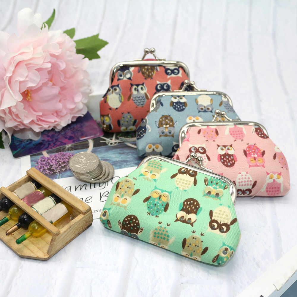 Cute Girl Crianças Coin Purse Kawaii Coruja impressão Pequena Mudança Carteira Mulheres Bolsa Da Moeda Da Carteira Chave Saco Crianças Bolsa de Presente