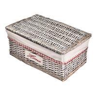 4PCS Covered Rattan Storage Box Drawer Organizer Storage Basket Multi functional Storage Box